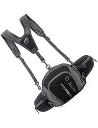 Tradico® Nylon Backpack Messenger Shoulder Fanny Pack Waist Bum Bag Handbag Black