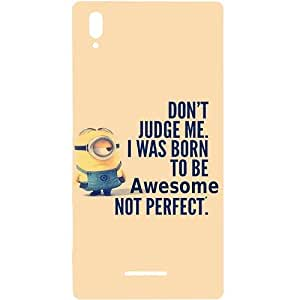 Casotec Minions Born to Pe Perpect Print Design Hard Back Case Cover for Sony Xperia T3