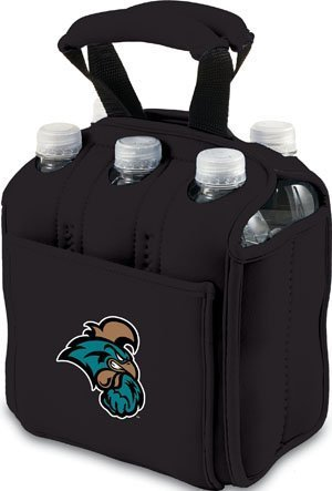 Six Pack Insulated Cooler - COLLEGIATE Coastal Carolina Chanticleers/Black by Picnic Time