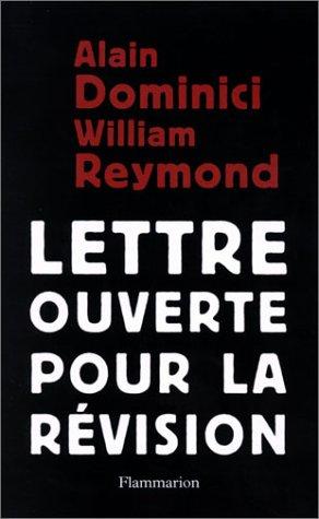 Lettre ouverte pour la révision par Alain Dominici