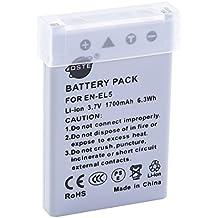 DSTE Ricambio Batteria per Nikon EN-EL5 Coolpix P510 P520 P530 P5000 P5100 P6000 S10 3700 4200 5200 5900 7900 P3 P4 P80 P90 P100 P500
