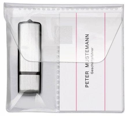 TimeTex USB-Stick-Tasche – 2 Stück – selbstklebend – mit Klappe – Klebetasche für USB-Stick – 10691
