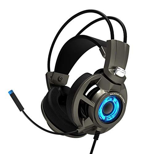 E-Sports 7.1-Kanal-Stereo-Headset Subwoofer Vibration Rauschunterdrückung Kopfhörer mit Mikrofon für PC, PS4, PS4 PRO, Xbox One, Xbox One S