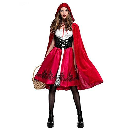 ckground Costume da Cappuccetto Rosso da Cappuccetto Rosso di Natale. Vestito Sexy da Festa di Halloween con Mantello