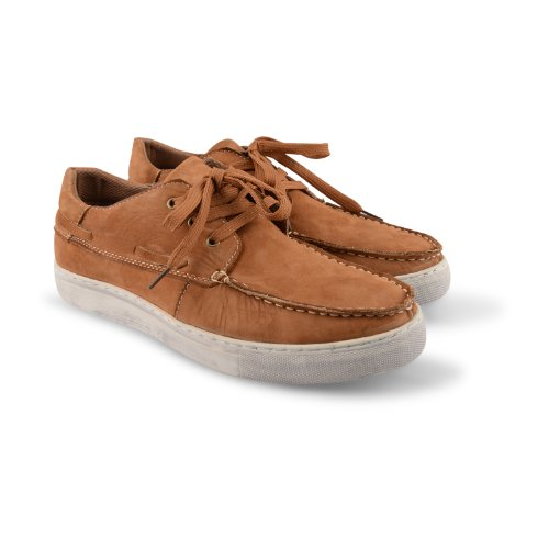Footwear Sensation , Herren Bootsschuhe Braun braun Tan Nubuck Leather