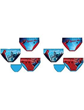 Pack de 6 Slips Diseño Spiderman (Marvel) 3 Diseños Diferentes Tallas 2/3, 4/5 y 6/8 Años (100% Algodon)