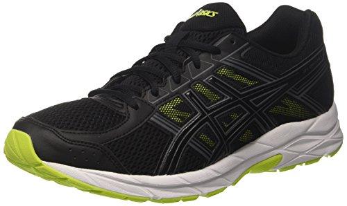 ASICS Men's Gel-Contend 4 Black/Energy Green Running Shoes - 6 UK/India (40 EU)(7 US)(T715N.9090)
