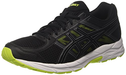 Asics Gel-Contend 4, Zapatillas de Running Para Hombre, Negro (Black/Black/Energy Green), 44 EU