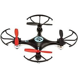 Nano - Drone cuadricóptero de largo alcance 250 mAh con propulsores de recambio, color negro