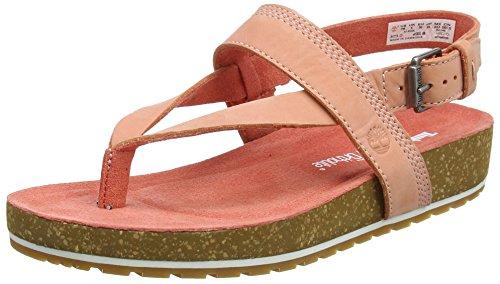 Ankle Strap Schnalle Sandale (Timberland Damen Malibu Waves Ankle Strap Zehentrenner, Pink (Crabapple Nubuck K41), 38 EU)