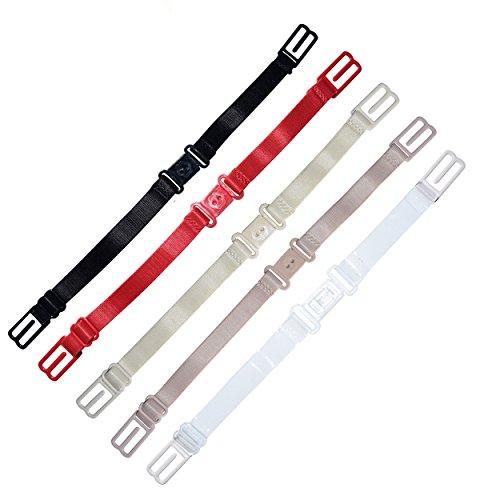 DoHope Damen BH-Träger Magic Straps, Anti Rutsch Elastische BH Bügel-Halter (multi Farbe: 5 Stück BH-Träger Halter) (Bh Halter)