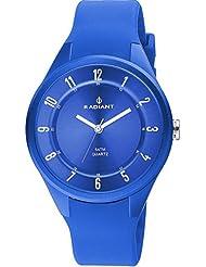 Radiant RA244605 - Reloj con correa de caucho para hombre, color azul / gris
