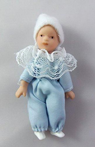 Puppenhaus Miniatur 1:12 Porzellan Menschen Viktorianisch Baby Junge Kleinkind Puppe Porzellan Puppe Baby