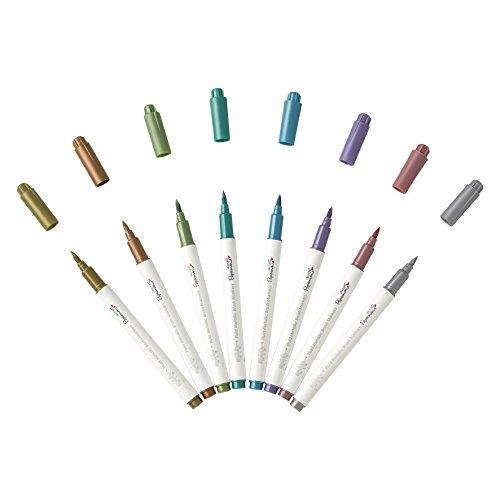 Docrafts Brush Marker Fluid Metallic, verschiedene Farben (8Stück) - 2