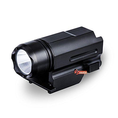 Zeadio Linterna LED CREE [Garantía de 5 Años], con adaptador rápido desmontable...