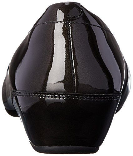 Clarks Concerto pompa Banda Wedge Black Patent Leather