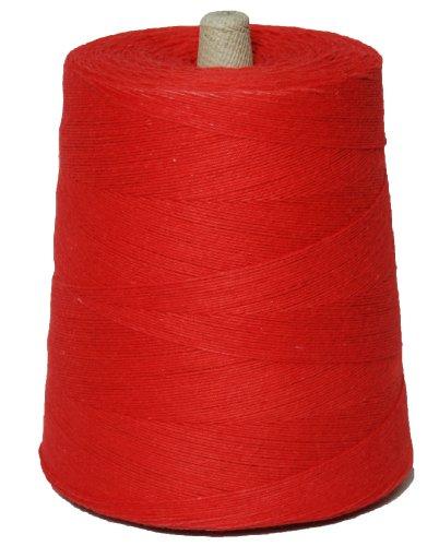 T.w. Evans Cordage 07–047 4 Poly Ficelle de coton Cône de 0,9 kilogram, 9600-feet, Rouge