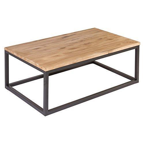 Mesa centro madera y hierro jueves lowcost - Mesa de centro industrial ...
