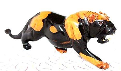 Africa art decoration–tigre bicolore in legno ebano 5732-s4y-580