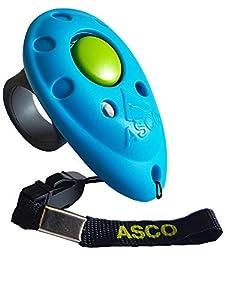 ASCO Clicker professionnel pour doigt, Entraînement Dressage pour chiens chats chevaux, Finger Clicker de formation