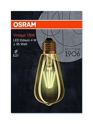 OSRAM LED Vintage Edition 1906 / LED-Lampe in Edison Form mit E27-Sockel / Nicht Dimmbar / Ersetzt 35 Watt / Klar / Warmweiß – 2700 Kelvin / 1er-Pack - 4
