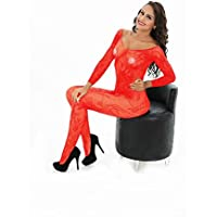 HYW Europa Y Los Estados Unidos Caliente Juguetes Sexuales Negro Y Rojo de Manga Larga Dragón Flores Siamés Red de Mujeres,Rojo,Todo el código