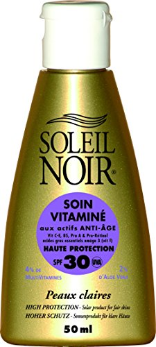 SOLEIL NOIR 17 Soin Vitaminé 30 Protection Haute