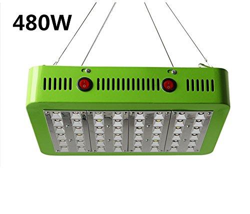 LED Horticole Lampe 480W Lampe Croissance Eclairage Plantes Interieur Grow Light Verte Chambre À Double Chips Full Spectrum Box Serre Plants Germination