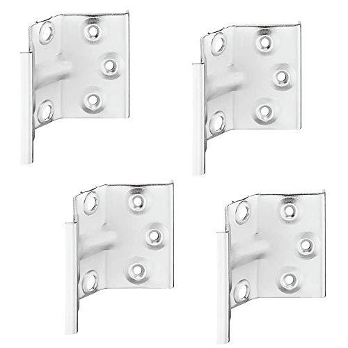 Gedotec Winkelbeschlag Tisch-Zargenverbinder Tischbein-Beschlag für Tische & Bänke | Höhe 70 mm | Stahl verzinkt | Winkel-Verbinder für eine stabile Konstruktion | 4 Stück - Tischwinkel-Beschläge