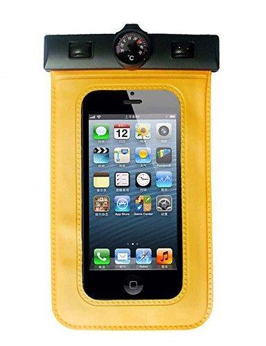 GXS Outdoor Aktivitäten Universelle wasserdichte Unterwasser-Tasche mit Armband und Kompass (verschiedene Farben) Orange - orange