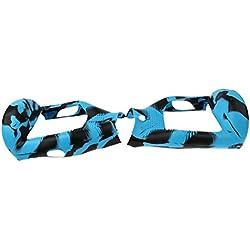 Cubierta Protectora de Silicona funda para 6,5 pulgadas Hoverboard Scooter Auto Equilibrio (Camo azul y negro, para 6,5 pulgadas)
