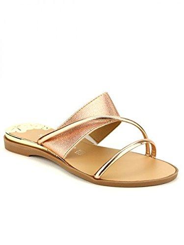 Cendriyon, Sandale Color Champagne STEPHAN MODE Chaussures Femme Doré
