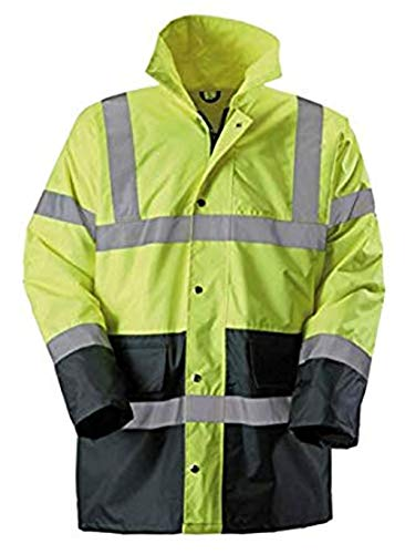 High Viz Vis Executive Jacket Wasserdichter Sturmarbeitsschutz (2XL, Blue) -