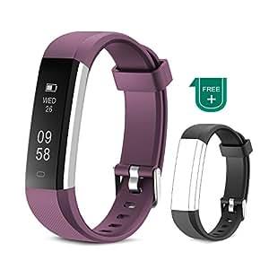 Muzili Tracker de Fitness Bracelet Sport étanche avec Tactile écran Tracker dactivité avec Compteur de Pas/Calories/Moniteur de Sommeil/Notifications ...