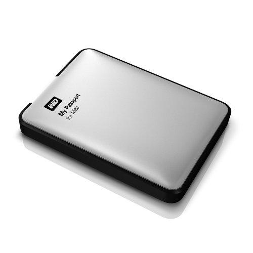 WD My Passport für Mac externe Festplatte 2TB (6,4 cm (2,5 Zoll), USB 3.0) silber