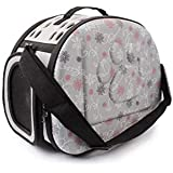 SRI Travel Pet Storage Fold Able Pet Carrier Bag for Cat and Puppy, Grey (Small)
