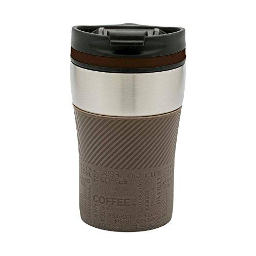 Thermobecher to go - passt unter jeden gängigen Kaffeeautomat Farbe braun, silber