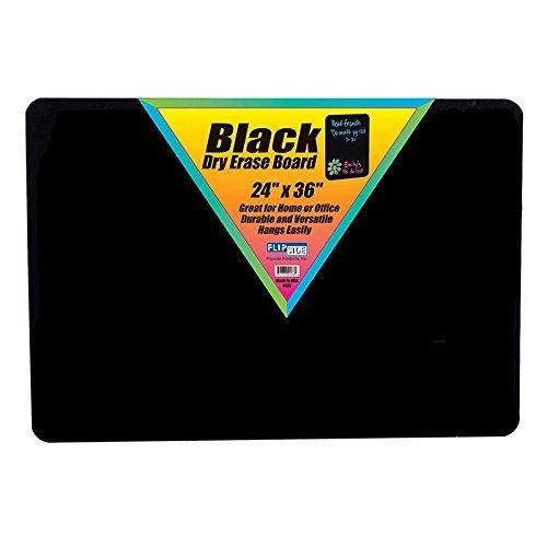 Flipside FLP40088 Black Dry Erase Board 24 X 36 by Flipside (Black Dry Erase Board)