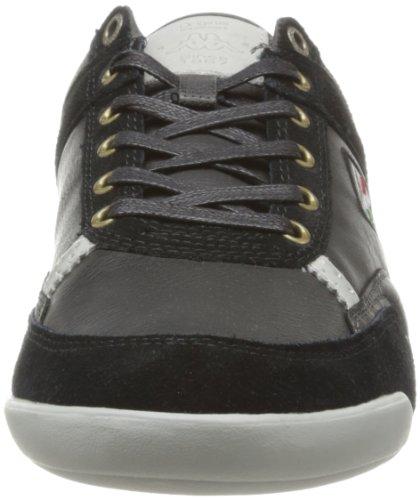 Kappa Sampha Man, Herren Sneaker Schwarz - Noir (Black/Dk Grey/Lt Grey)