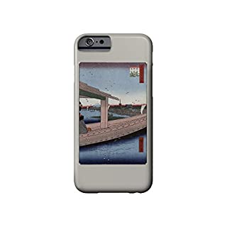 Distant View of Kinryuzan Temple and Azuma Bridge Japanese Wood-Cut Print (iPhone 6 Cell Phone Case, Slim Barely There)