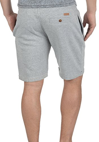 INDICODE Rion Herren Sweat-Shorts kurze Hose Sport-Shorts aus hochwertiger Baumwollmischung Light Grey Mix