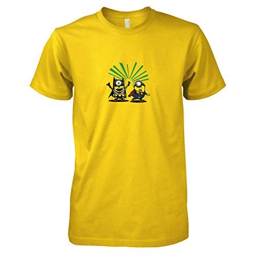 TEXLAB - Bat vs. Super Banana - Herren T-Shirt, Größe XXL, gelb