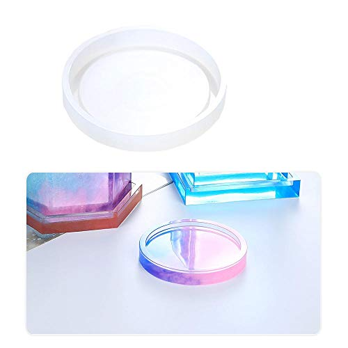 Womdee Art and Craft Molds Resin Coaster Silicone Mould