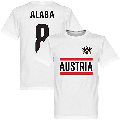 Österreich Alaba 8 Team T-Shirt - weiß - XXXXL