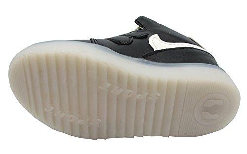 High-Top LED Leuchtende Sneakers mit Klettverschluss für Kinder - Gr. 26-30 Schwarz