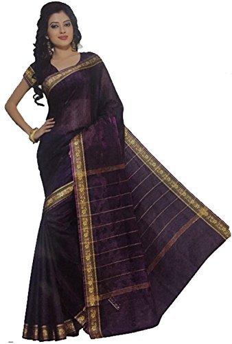 Bollywood Sari Kleid Regenbogen Lila (Bollywood Sari)