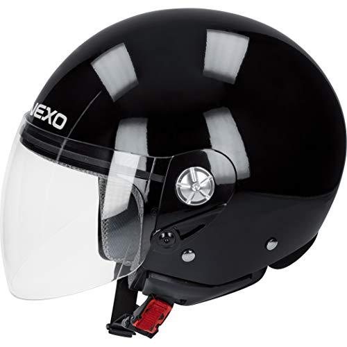 Nexo Motorradhelm, Halbschalenhelm, Jethelm Demi Jet Helm City schwarz XL, Unisex, Chopper/Cruiser, Ganzjährig, Thermoplast