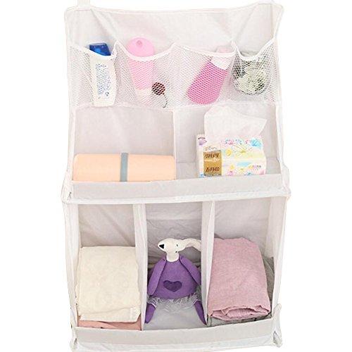 GZQ, organizer per l'angolo nursery del neonato, lettino con tasca portaoggetti da appendere per giocattoli, pannolini, fazzoletti, latte in polvere, salviette umidificate, vestiti