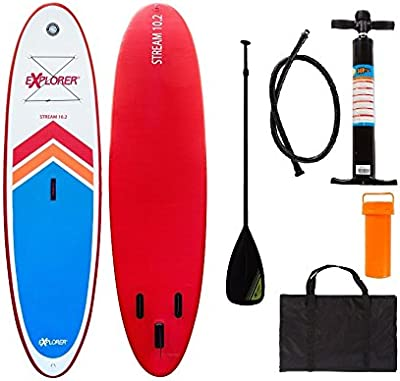 Explorer Sup Tabla inchable de Paddle Surf ISUP, con pala