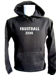 ShirtShop-Saar Faustball Zicke; Kapuzen-Pulli schwarz, Gr. S